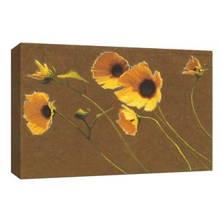 """PTM Images 9-153585  PTM Canvas Collection 8"""" x 10"""" - """"Sunny Flowers I"""" Giclee Flowers Art Print on Canvas"""