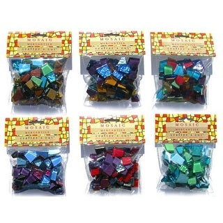 Mosaic Mercantile - Crafter's Cut Pre-Cut Mosaic Tiles - Harmonious Mixes - Solstice Mix, 1/2 lb. Ba