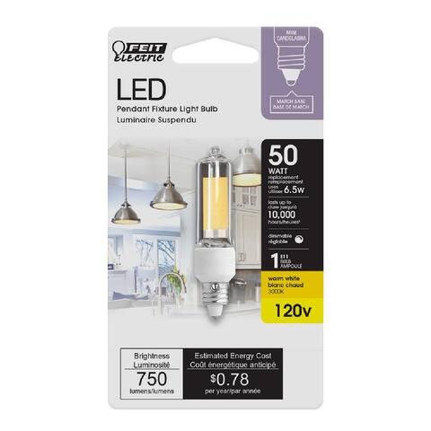 Feit Electric BP50MC/830/LED Dimmable Mini Candelabra LED Bulb, 1 W