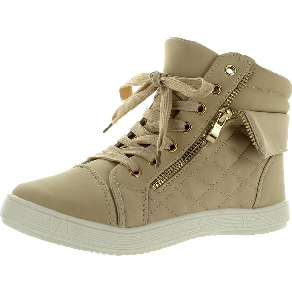 ef950c70422 Shop Via Pinky Perla-03 Womens Quilted Lace Up Ankle High Sneakers ...