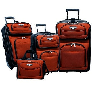 Traveler's Choice Amsterdam 4-Piece Luggage Set - Orange