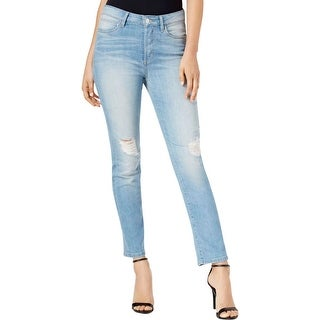 Guess Womens Ankle Jeans Distressed Mid Rise