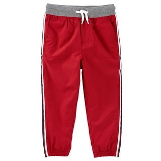 OshKosh B'gosh Baby Boys' Jersey-lined Active Pants, 24 Months - Red