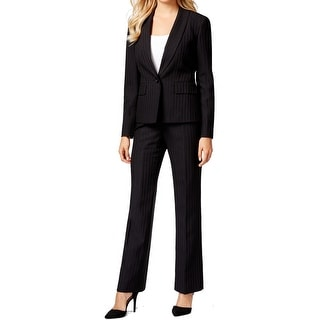 Le Suit NEW Black Women's Size 18 Striped Shimmer Pant Suit Set