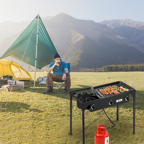 Outdoor Camping Burner Stove High Pressure Propane Gas Cooker