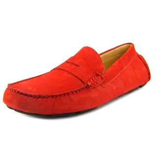 Mercanti Fiorentini Penny Moc Men Square Toe Suede Red Loafer
