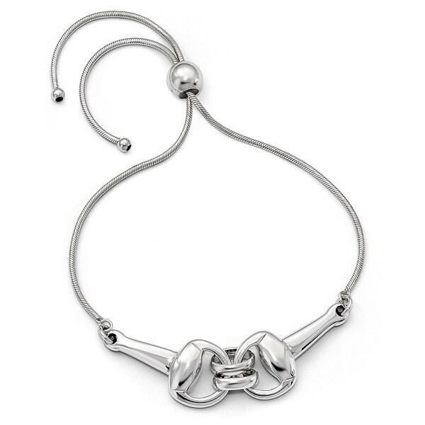 Italian Sterling Silver Polished Adjustable Bracelet