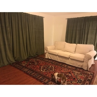 Exclusive Fabrics Signature Hunter Green Velvet Blackout Curtain Panel