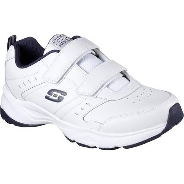 2bc160879864 Shop Skechers Men s Haniger Casspi Training Sneaker White Navy ...
