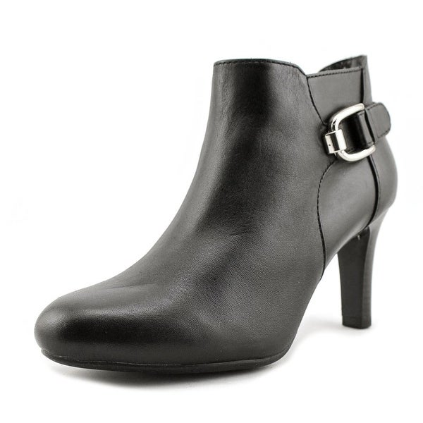 Bandolino Layita Women Round Toe Leather Black Bootie