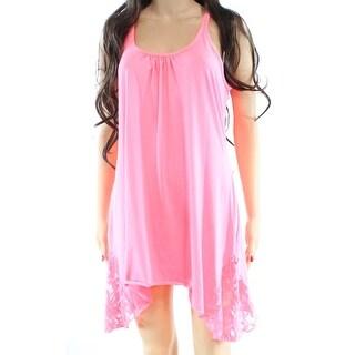 In Bloom NEW Pink Women's Size Small S Sharkbite Chemise Lace Sleepwear