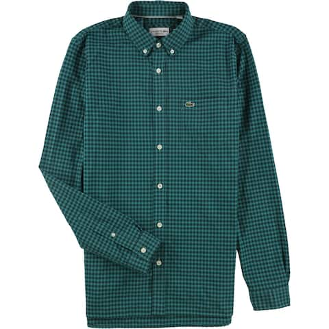 Lacoste Mens Checkered Button Up Shirt