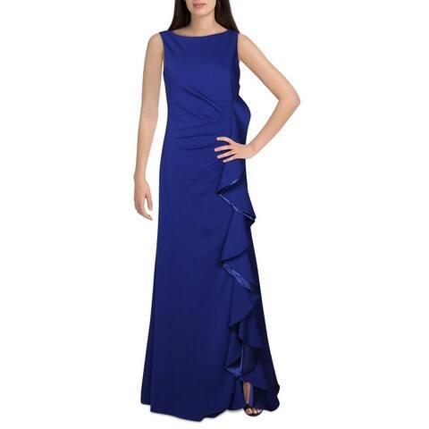 Carmen Marc Valvo Womens Formal Dress Bateau Neck V Neck - Pink