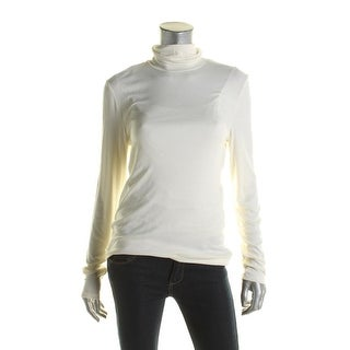 Lauren Ralph Lauren Womens Turtleneck Sweater Knit Ribbed