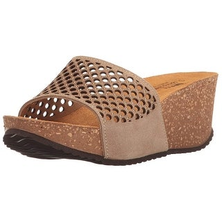 Spring Step Womens MARNI-BGES Open Toe Casual Platform Sandals