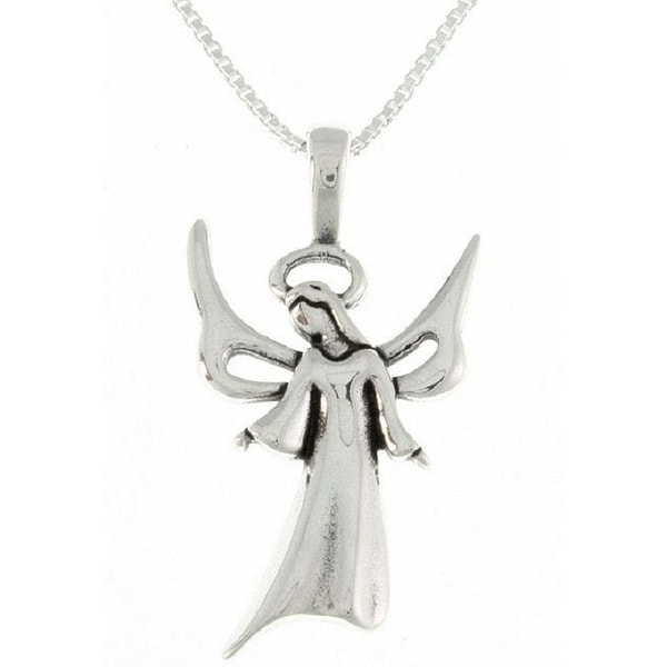Sterling Silver Angel Necklace. Opens flyout.