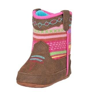 Blazin Roxx Western Boots Girls Camilla Bucker Aztec Brown