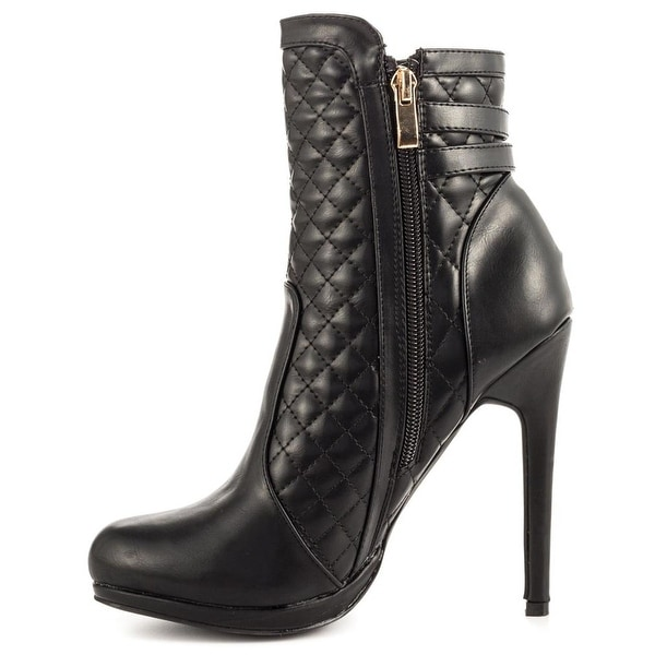 Just Fab Womens Losira Closed Toe Ankle Fashion Boots