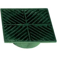 """NDS 7 Heavy Duty Square Drain Grate, 5"""", Green"""