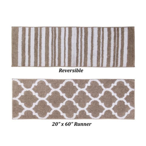 Better Trends Marrakesh Collection 100% Cotton Reversiable wth Two two pattern Super Absorbent Bath Rug