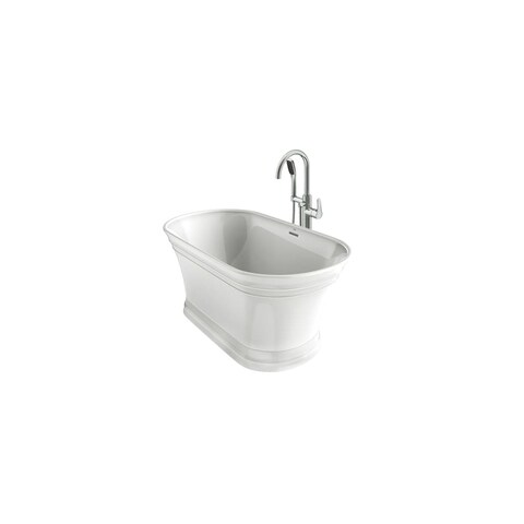 """Jacuzzi LYB5931BCXXXX Lyndsay 59"""" Free Standing Bathtub with NW50827 Tub Filler Faucet and Center Drain - White - N/A"""