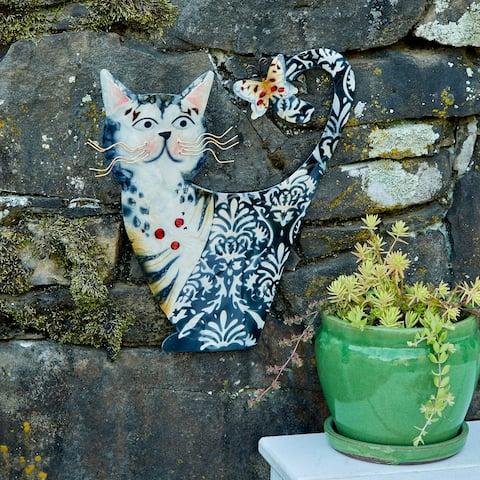 Cat White and Black Garden Decoration - 1 x 11 x 14