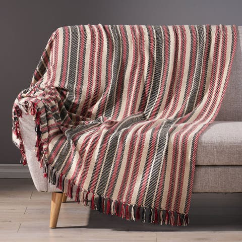 Florian Boho Cotton Throw Blanket by Christopher Knight Home