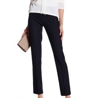 Elie Tahari NEW Deep Black Alden Women's Size 8 Wool Dress Pants