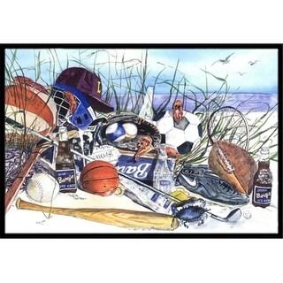 Carolines Treasures 1011JMAT 24 x 36 in. Sports on the Beach Indoor Or Outdoor Mat