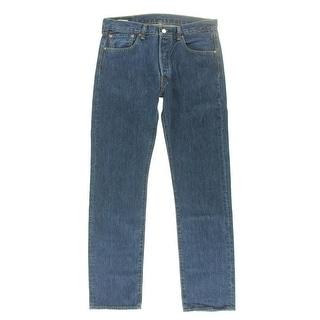 Levi's Mens 501 Original Fit Medium Wash Straight Leg Jeans