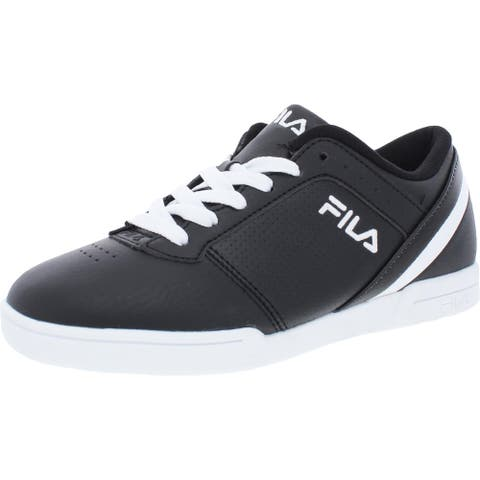 Fila Womens Place 14 Walking Shoes Faux Leather Low Top