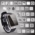 Bluetooth Smart Watch with Camera for Android & iOS Devices - Thumbnail 1