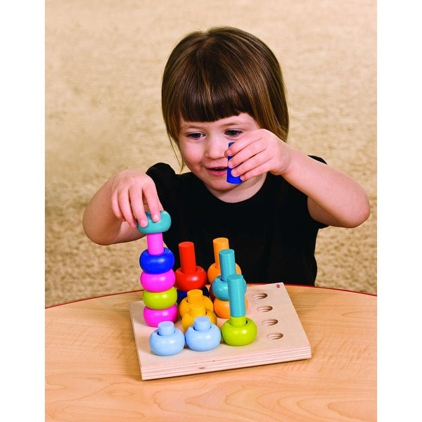 Haba Palette of Wooden Pegs Stacking Toy Activity Set
