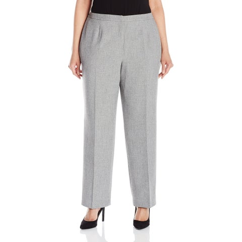 Kasper Gray Women's Size 22W Plus Classic Fit Dress Pants Stretch