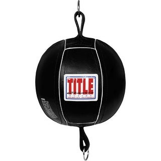 "Title Boxing Classic 8"" Leather Double End Bag - Black"