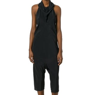 Rich Owens NEW Black Womens Size Small S Cowl-Neck Silk Jumpsuit