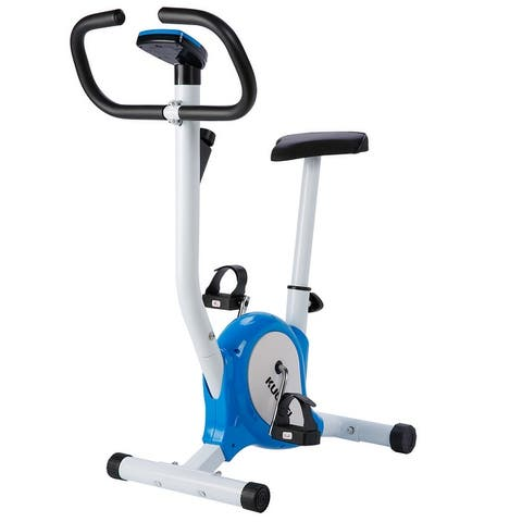 KUOKEL Stable Upright Bike Durable Exercise Bicycle Trainer Bike Cardio Aerobic Equipment