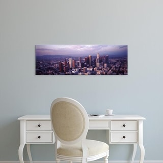 Easy Art Prints Panoramic Images's 'Aerial view of a city, City of Los Angeles, California, USA' Premium Canvas Art