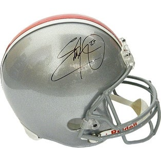 Eddie George signed Ohio State Buckeyes Riddell Full Size Replica Helmet #27 (black sig)