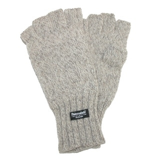 Dorfman Pacific Men's Wool Fingerless Winter Gloves with Thinsulate