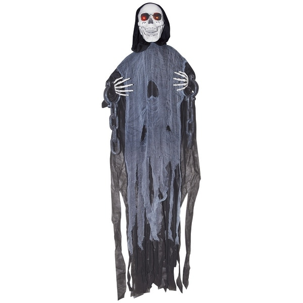 Animated Hanging Reaper in Chains Halloween Décor