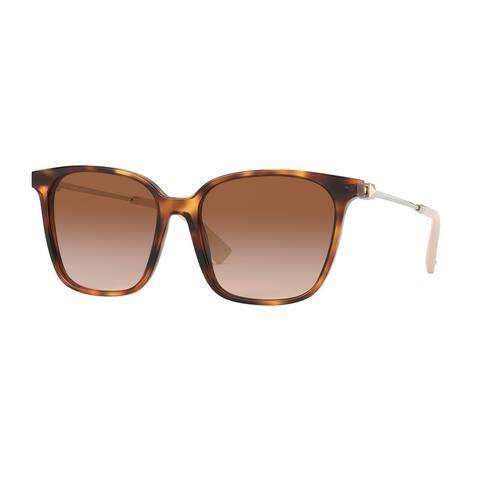 Valentino VA4078 501113 57 Havana Woman Square Sunglasses