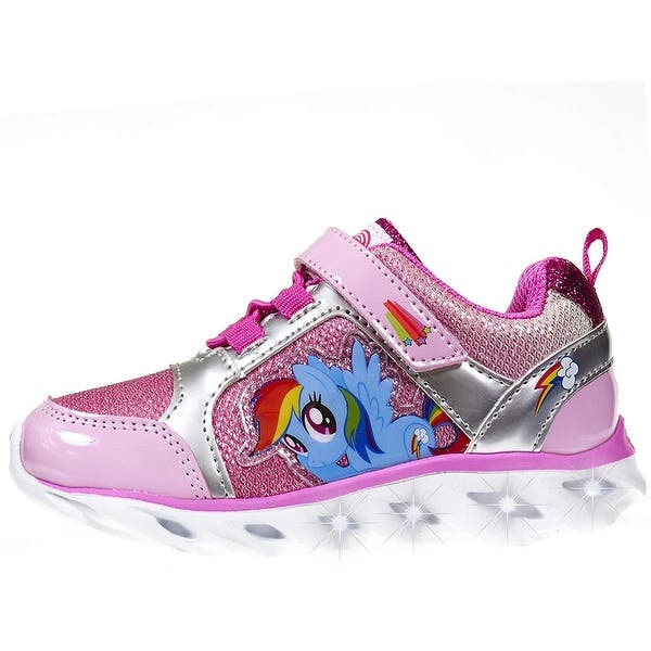 My Little Pony Light-Up Toddler Pink Rainbow Shoes Sneakers Size 7 Girls