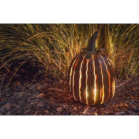 Desert Steel Orange Tall Pumpkin Luminary