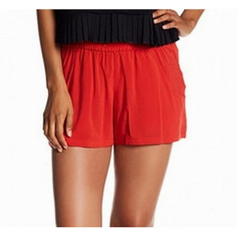 French Connection Red Womens Size 4 Drawstring-Waist Casual Shorts