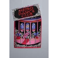 "Fashion Avenue Hot Pink Glitter Metro Dance Club Christmas Ornament 5"""