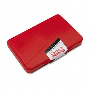 Carter apos;s 21071 Felt Stamp Pad- 4.25w x 2.75d- Red