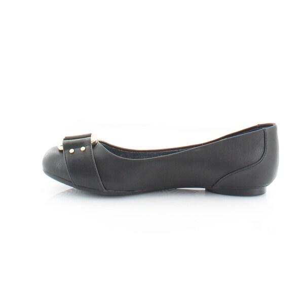 Dr Scholls Frankie Women/'s Ballet Flats Black Faux Leather Slip On Dress Shoes