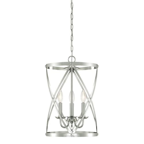 "Westinghouse 6303800 Isadora 3 Light 13"" Wide Single Tier Caged Candle Style Chandelier - Grey"