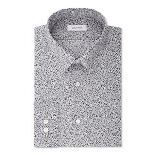 Calvin Klein Mens Button-Down Shirt Slim Fit Stretch